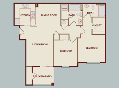 Chicago Suburbs Corporate Apartment Floor Plans